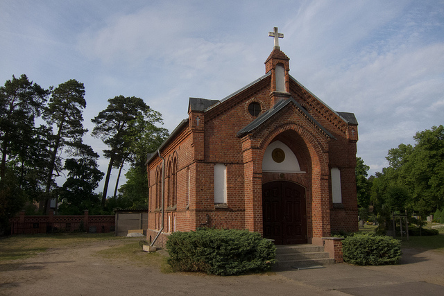 A small brick church