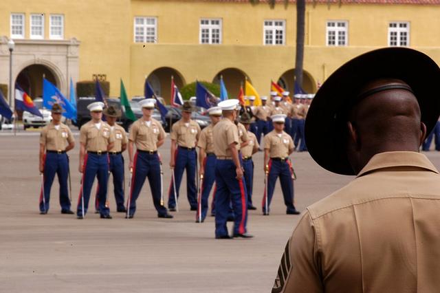A Marine Corps Boot Camp