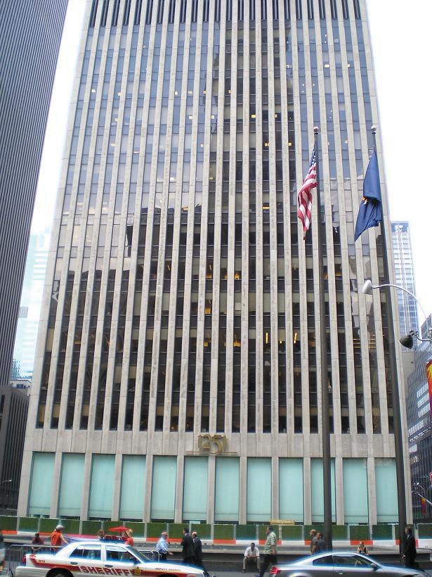 an Exxon skyscraper