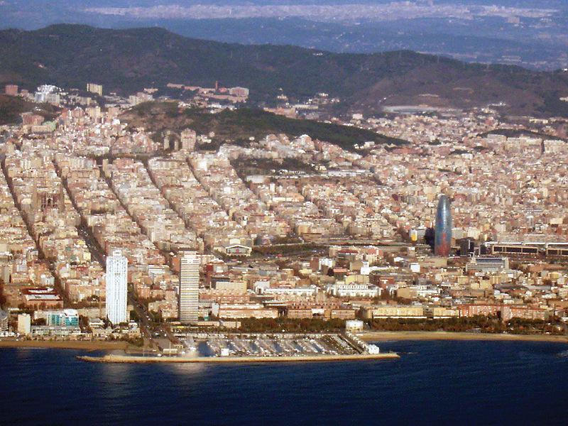 The coastline of Spain