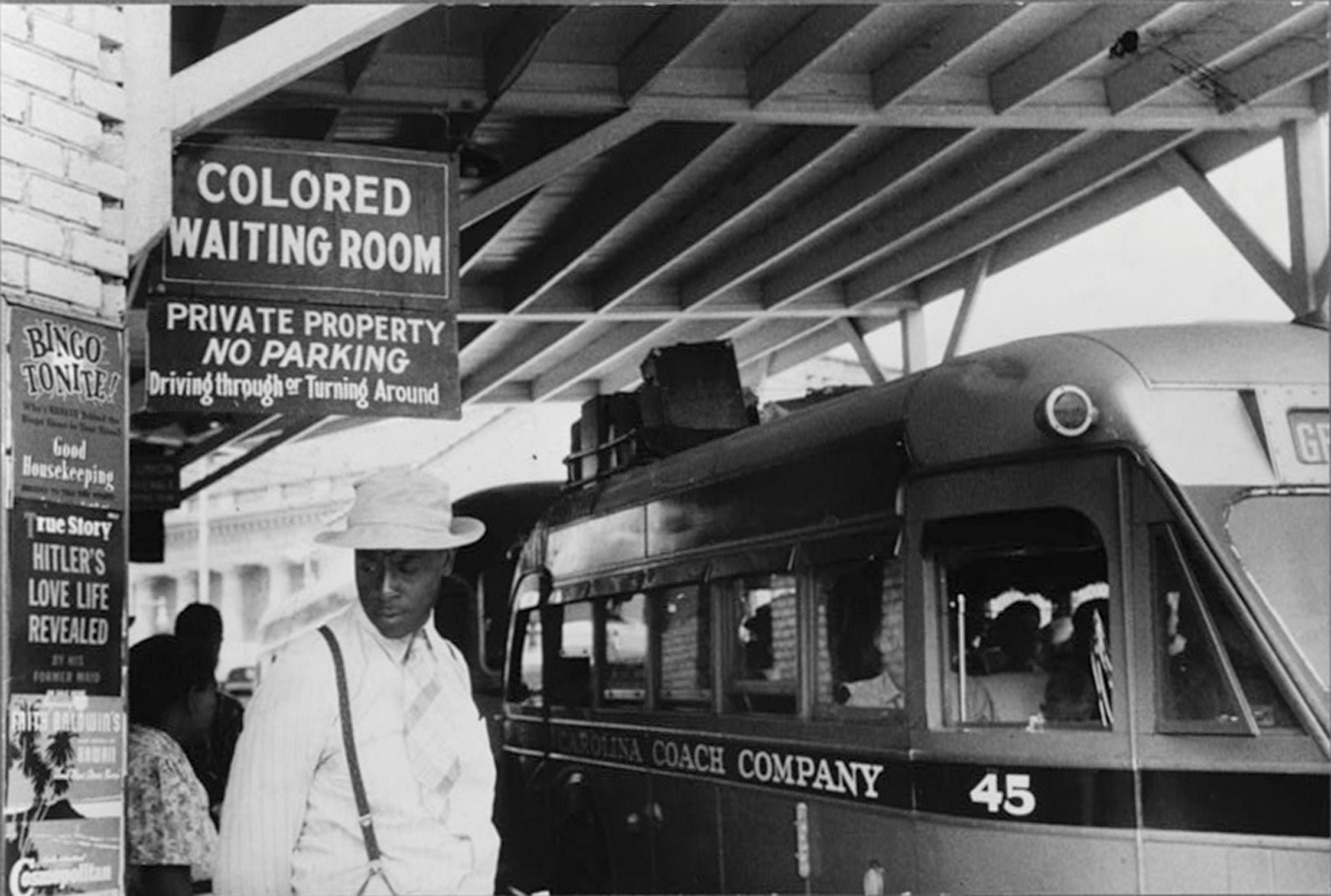 A sign illustrating segregation that reads: