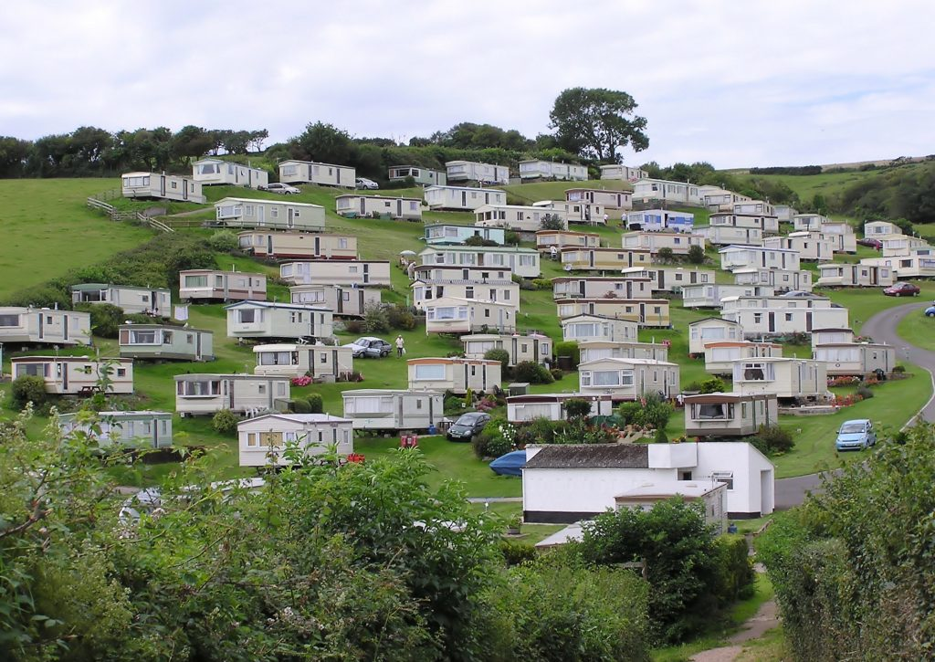 A hill full of trailer homes