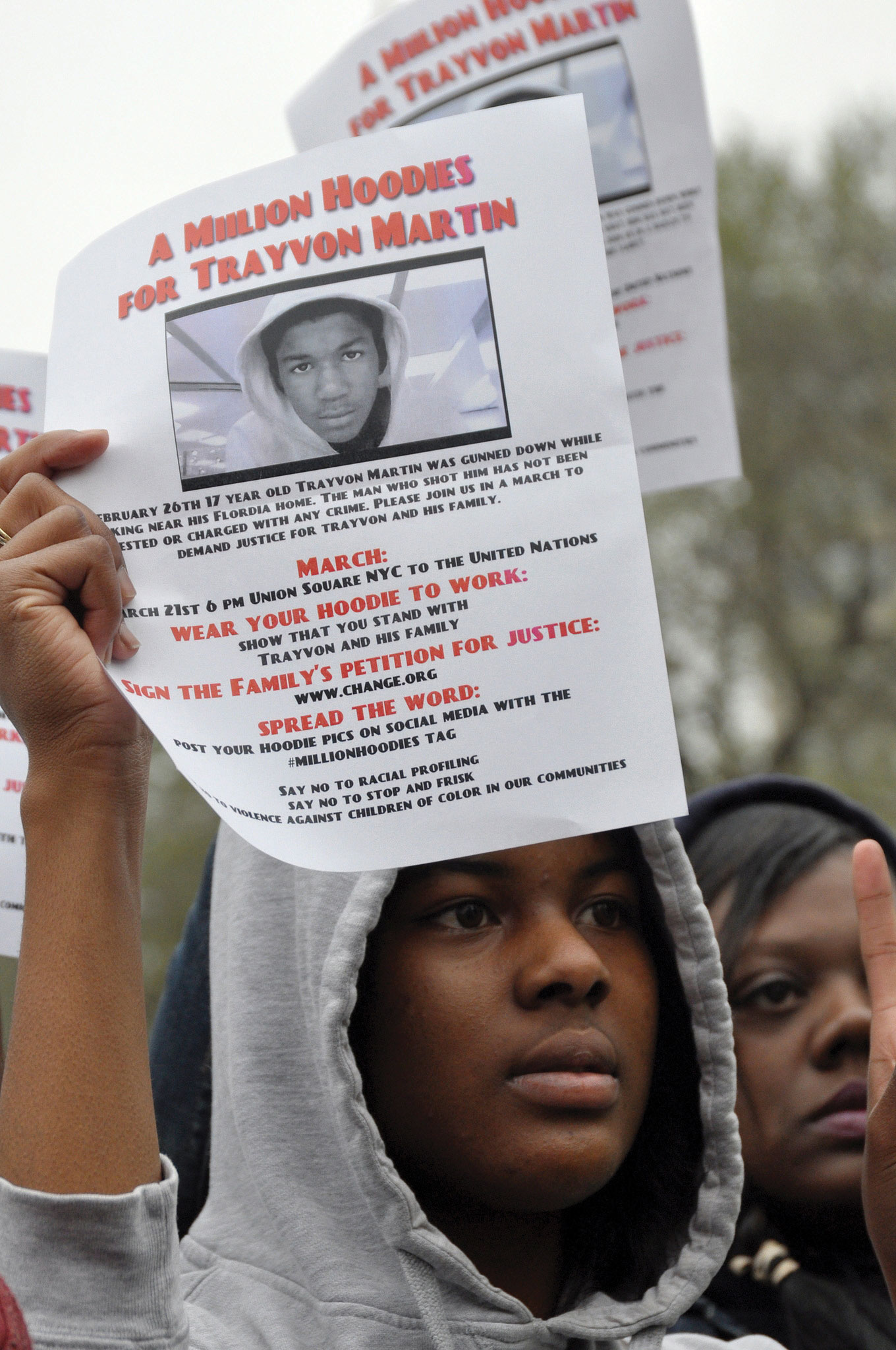 A Million Hoodies for Trayvon Martin poster
