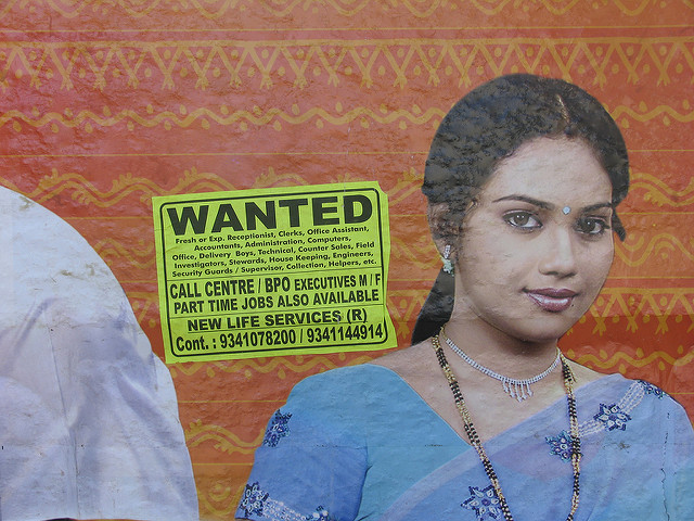 A wanted poster asking for employees to be