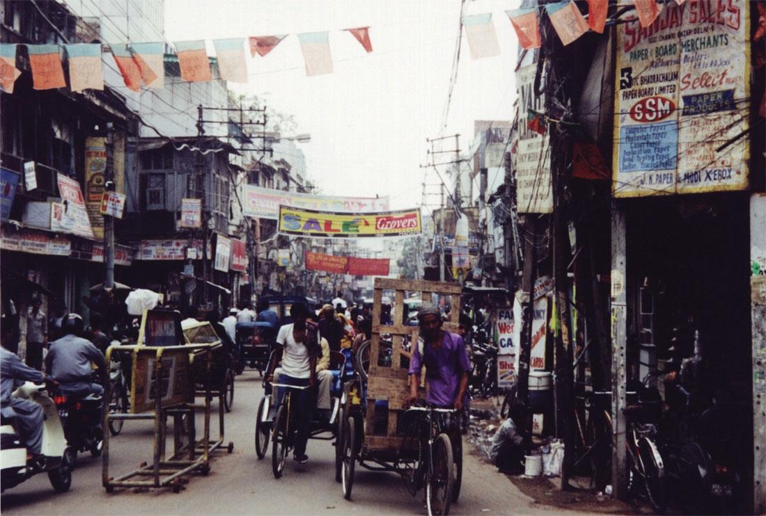 The streets of Delhi