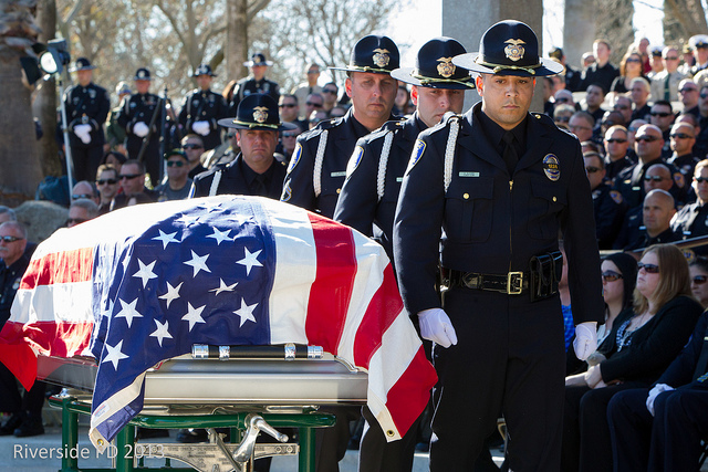 A group of police officers at the Riverside Police Officer Memorial Service