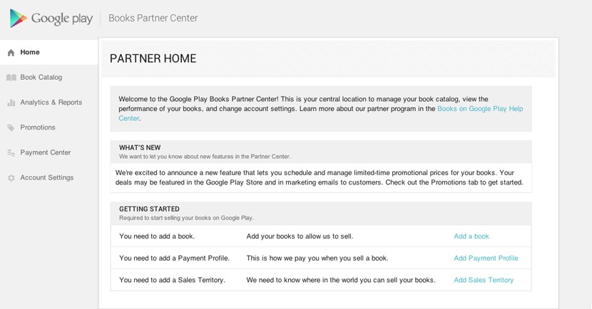 Google Books Partner Center