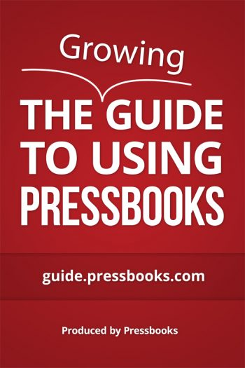 Cover image for Pressbooks User Guide