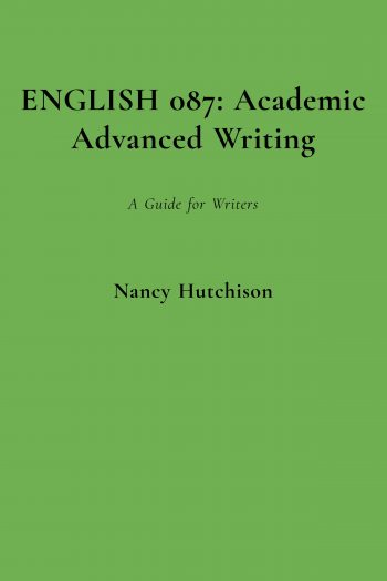Cover image for ENGLISH 087: Academic Advanced Writing