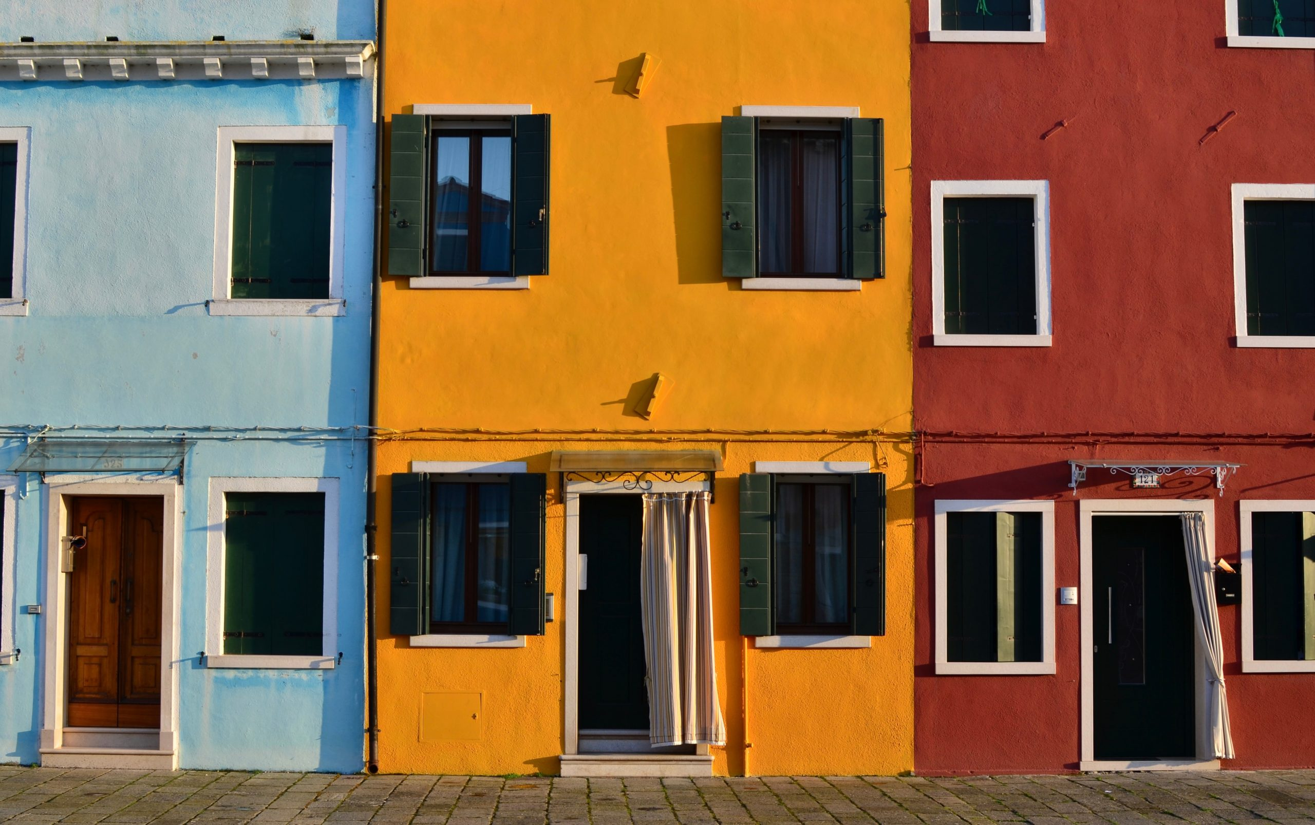 colorful houses built close together