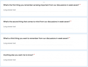 This is a screenshot of questions posed to students.